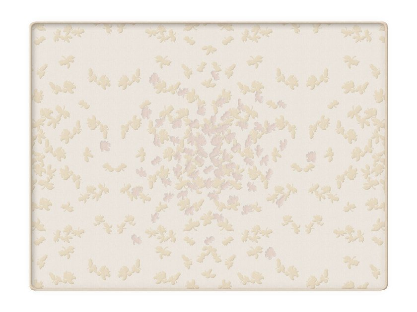 Jacquard cotton quilt with floral pattern BUTTERFLY   Quilt by Sans Tabù