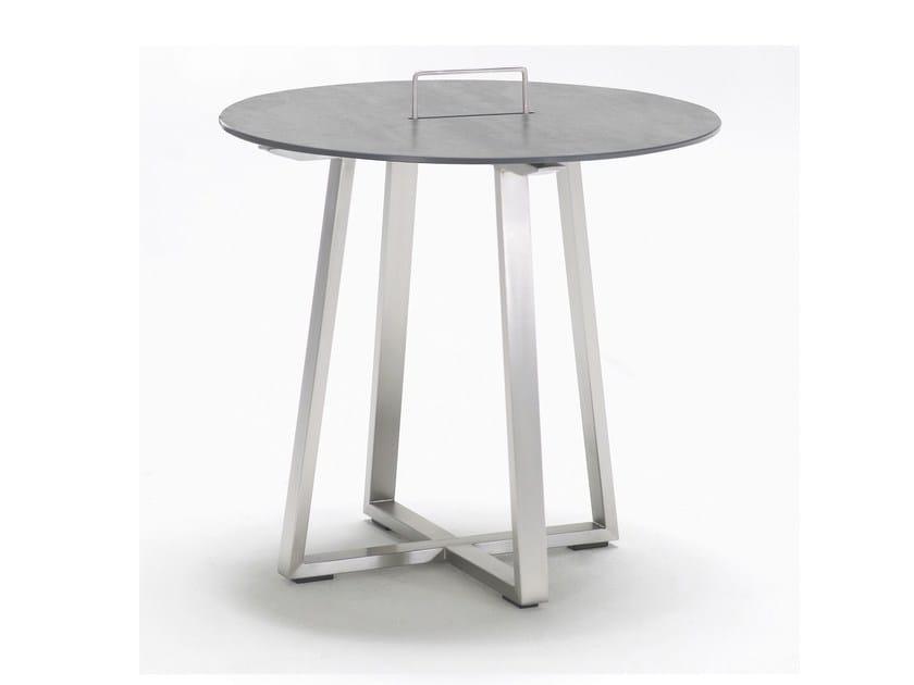 Tavolino da giardino di servizio rotondo in ceramica R-SERIES | Tavolino rotondo - solpuri