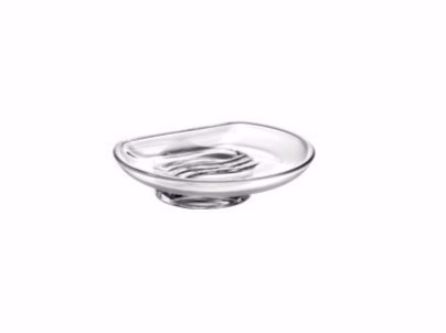 Countertop glass soap dish R03110 | Soap dish - INDA®