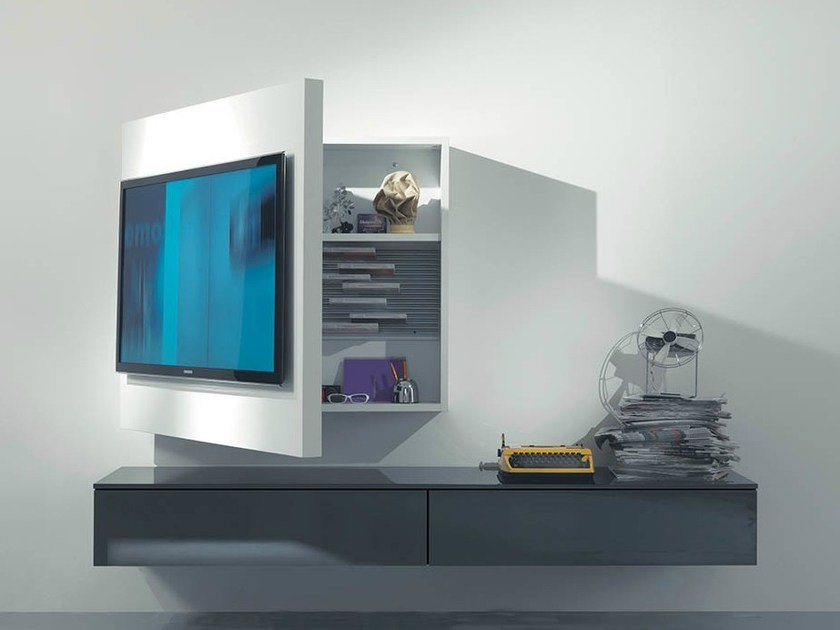 Mobile TV laccato orientabile sospeso RACK 3 - Fimar