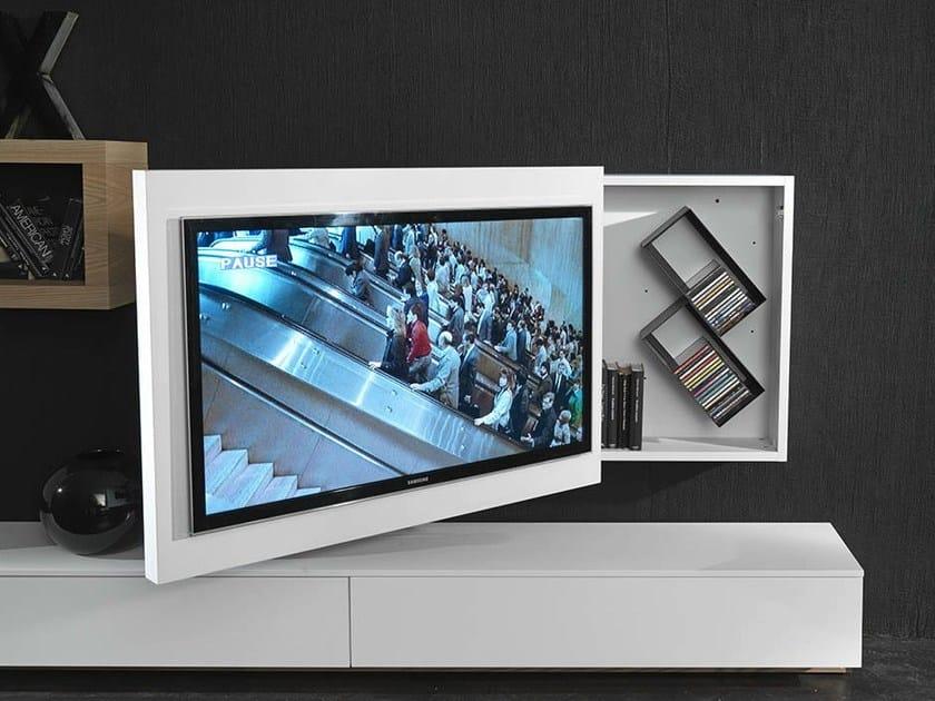 Mobile tv laccato orientabile sospeso rack box fimar for Mobile tv sospeso