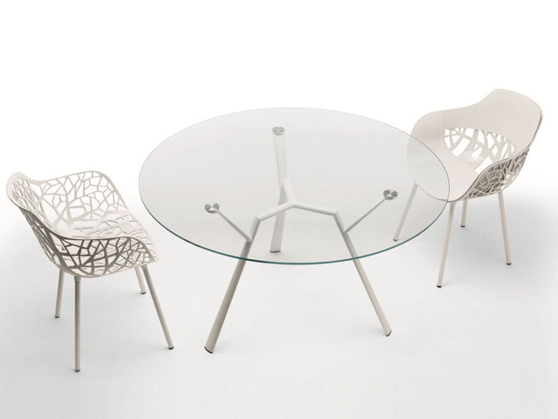 Round crystal contract table RADICE QUADRA | Crystal table - FAST