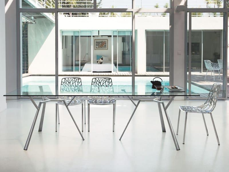 Rectangular crystal table RADICE QUADRA | Table by FAST