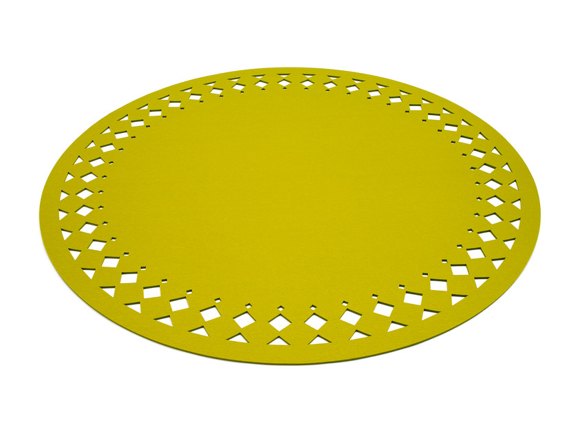 Solid-color round felt rug RANA | Round rug - HEY-SIGN