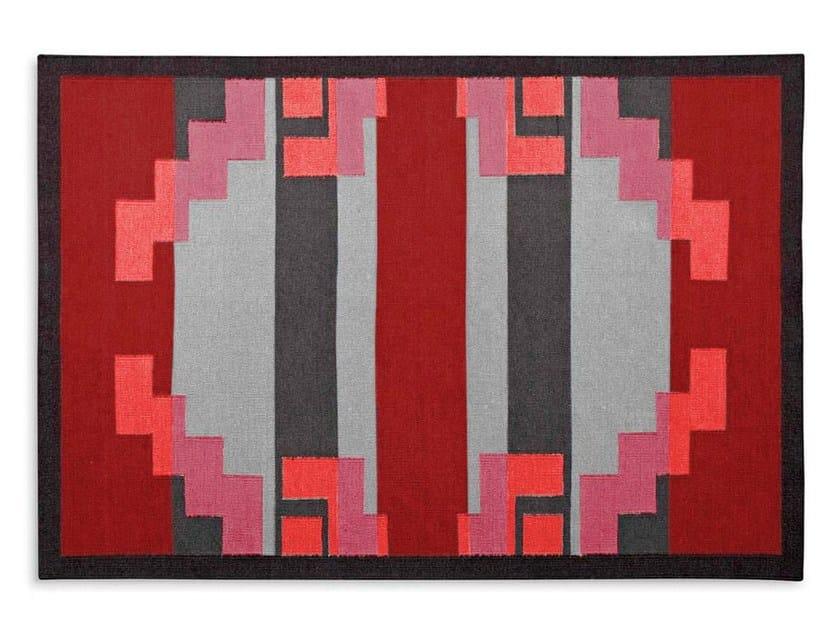 Wool rug with geometric shapes RARITAN - Calligaris