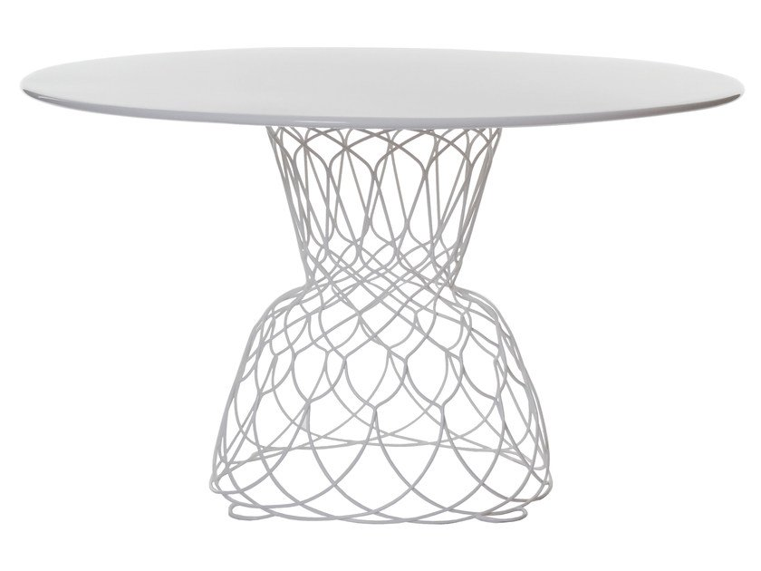 Round steel garden table RE-TROUVÉ | Round table - EMU Group S.p.A.