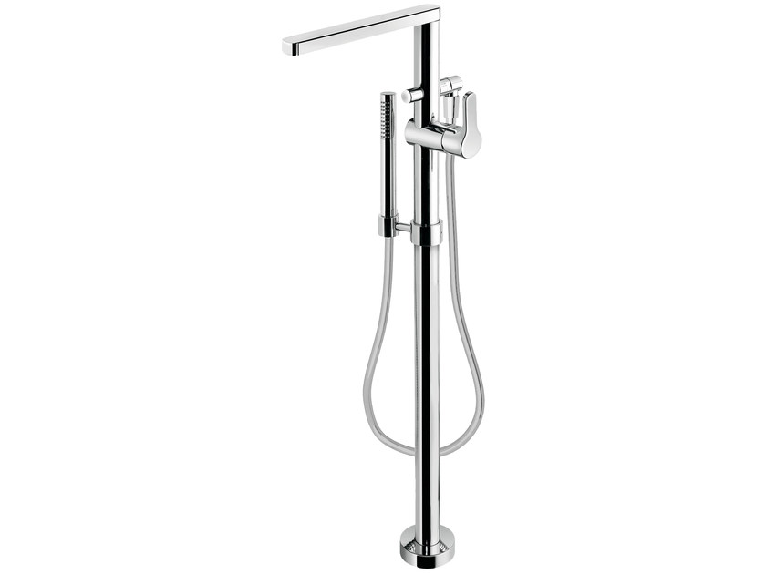 Floor standing single handle bathtub mixer with hand shower READY 43 - 4333008 - Fir Italia