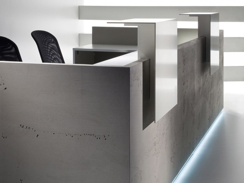 Modular Reception desk with Built-In Lights FURONTO | Reception desk - BALMA