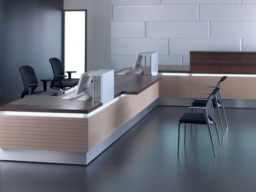 Banco per reception modulare con illuminazione HORIZON | Banco per reception - BALMA