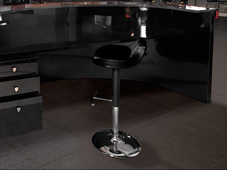 Upholstered Sheepskin stool with footrest TOURING | Stool by Tonino Lamborghini Casa