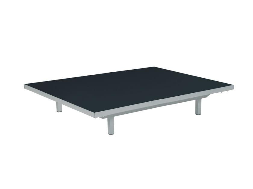 Tavolino basso da giardino rettangolare in HPL LAZY | Tavolino rettangolare - ROYAL BOTANIA