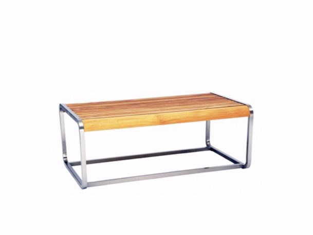 Rectangular teak coffee table SILLOUETTE | Rectangular coffee table - 7OCEANS DESIGNS