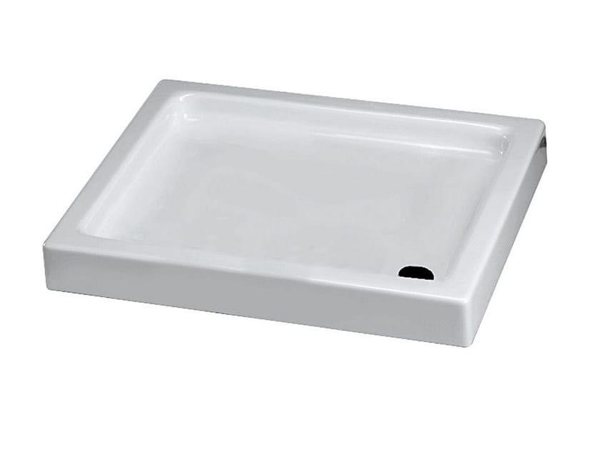 Rectangular ceramic shower tray COMINO | Rectangular shower tray - Olympia Ceramica