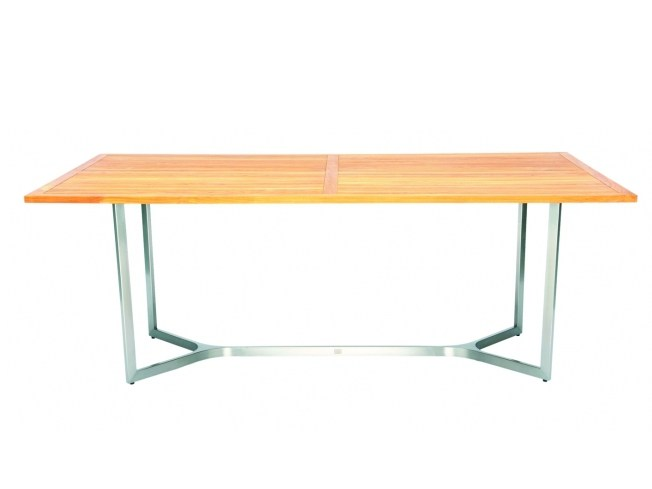Rectangular steel and wood dining table CITYSCAPE | Rectangular table - 7OCEANS DESIGNS