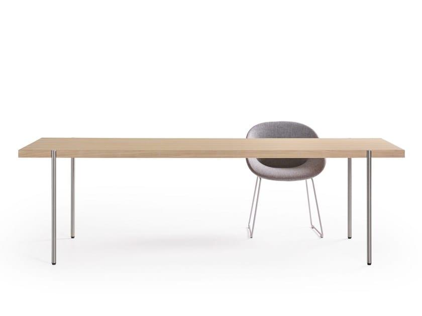 Rectangular wooden table PALLADIO | Rectangular table - Artifort