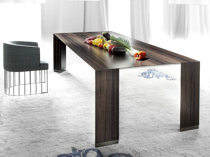 Rectangular wooden table PENSAMI | Rectangular table - ERBA ITALIA