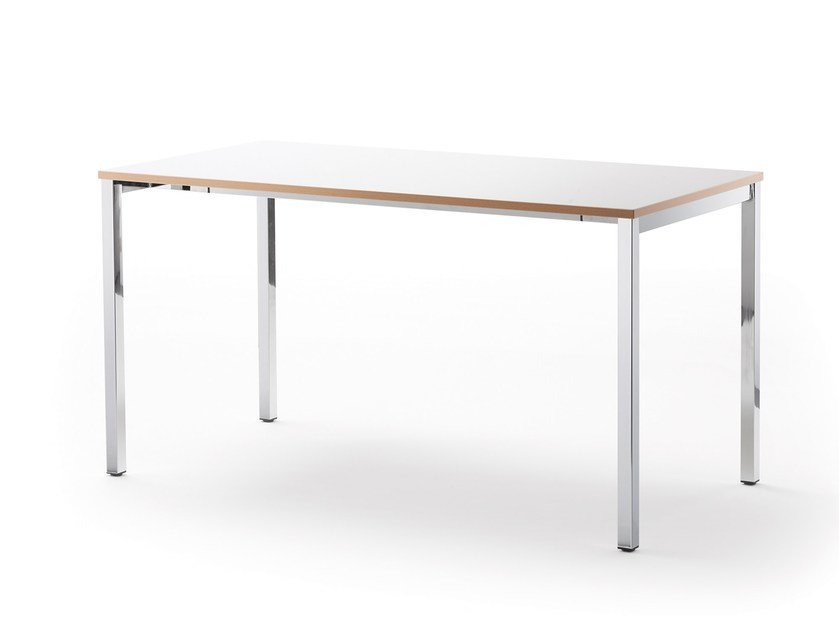 Lacquered rectangular table LOGOTABLE | Rectangular table by rosconi