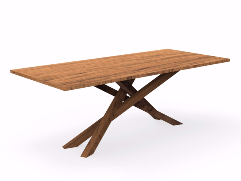 Rectangular mahogany garden table BRIDGE   Rectangular table - Talenti