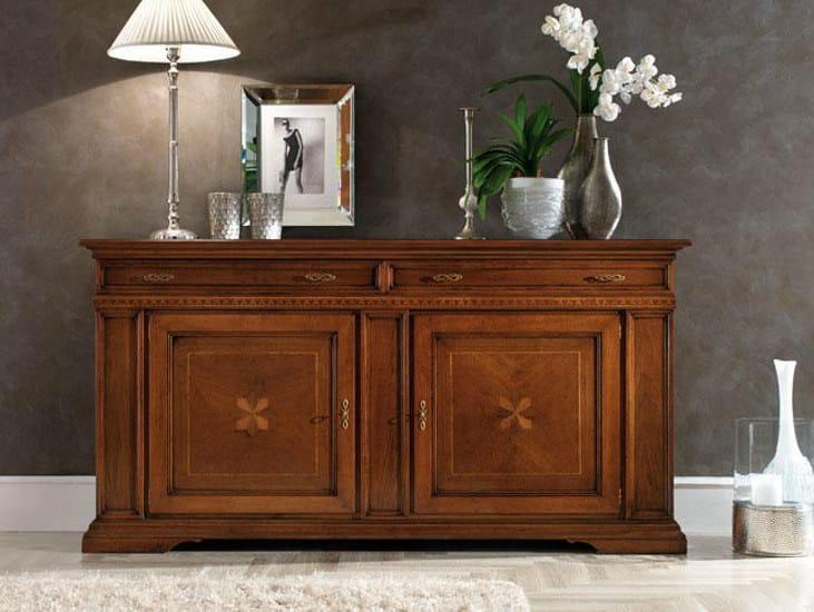 Solid wood sideboard REGINA | Sideboard - Devina Nais