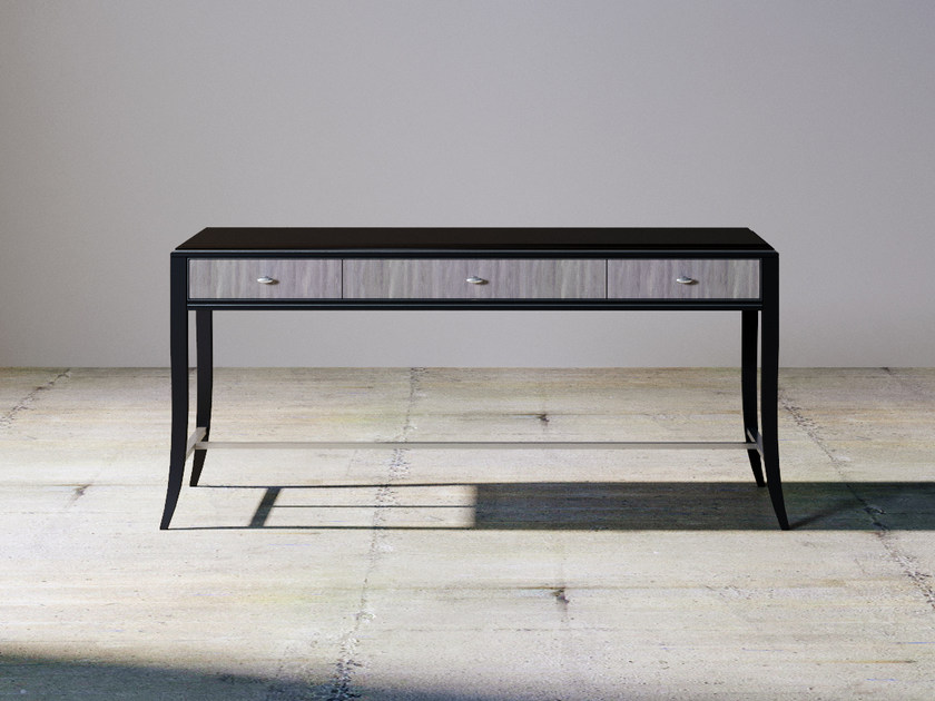 Rectangular wooden console table RELIEF | Console table by ITALIANELEMENTS