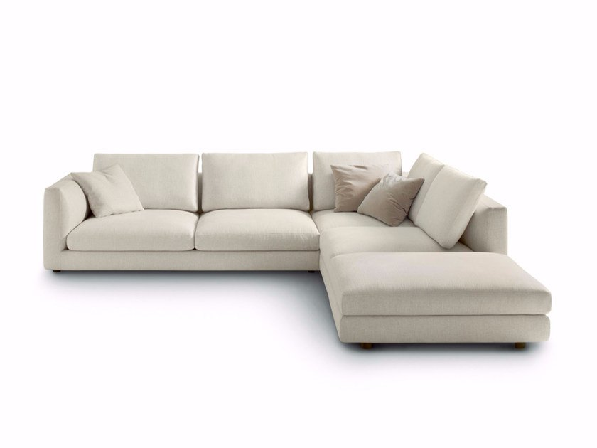 Corner upholstered fabric sofa RENDEZ-VOUS | Corner sofa by arflex