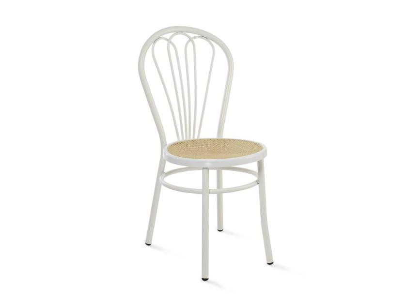 Open back painted metal chair RETRÒ - Mara