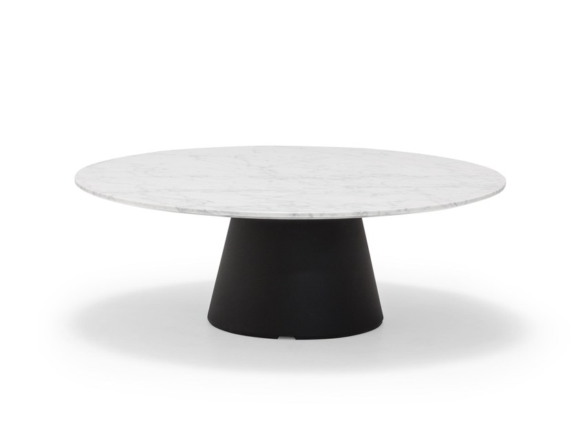 Low round marble coffee table REVERSE OCCASIONAL 35 | Marble coffee table - Andreu World