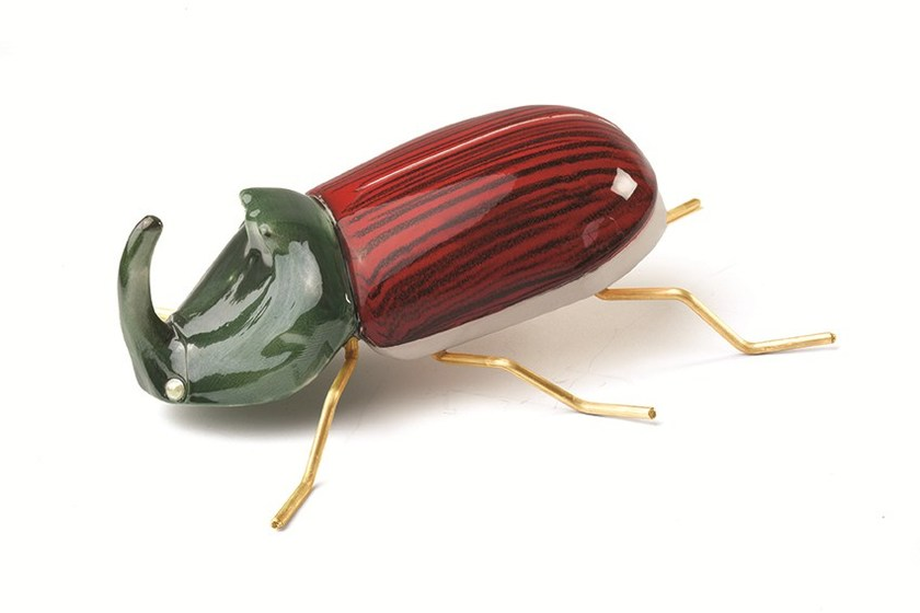 Beetle Rhinoceros Red