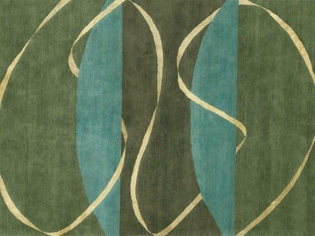 Handmade rectangular rug RHYTHMS - Deirdre Dyson