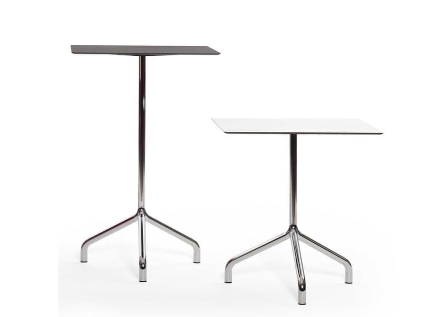 Round aluminium contract table RIBALTINO   Aluminium table - Diemmebi