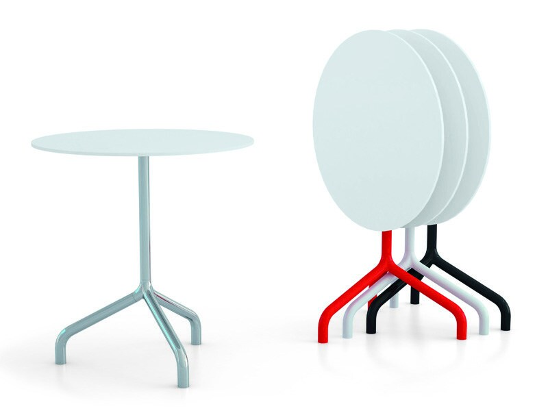 Drop-leaf round contract table RIBALTINO | Drop-leaf table - Diemmebi