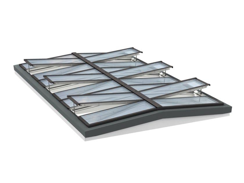 Finestra da tetto in acciaio e vetro ridgelight with beam for Velux motorizzato