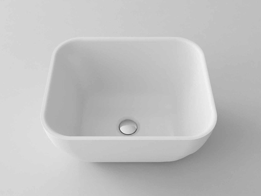 Countertop rectangular washbasin RING-Q - Flora Style