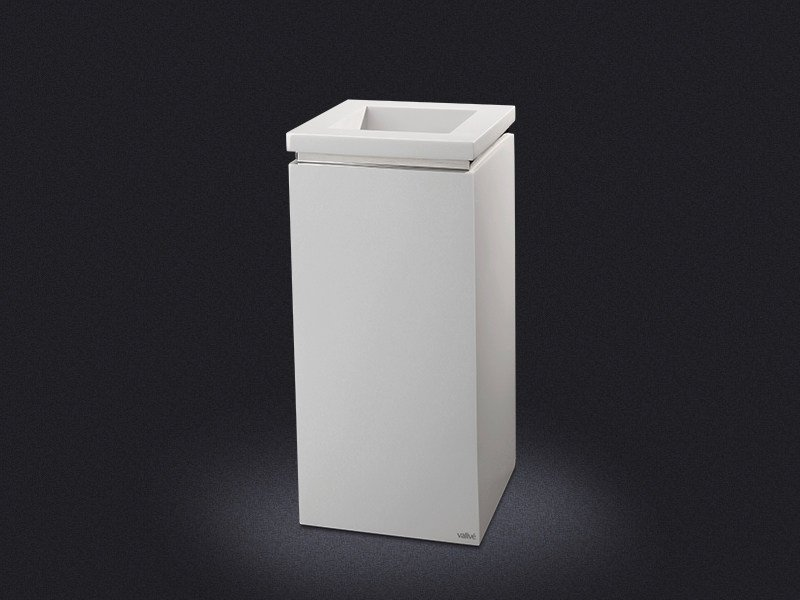 Resin waste bin SQARE RING | Waste bin - Vallvé Bathroom Boutique