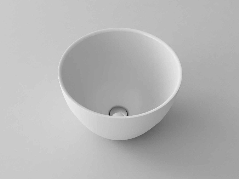 Countertop round washbasin RING - Flora Style