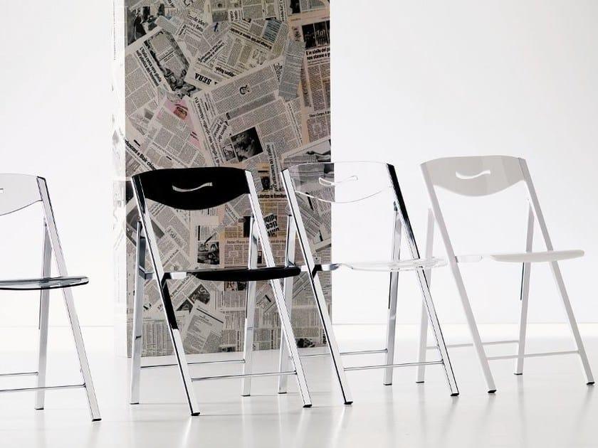 Folding Vitrex chair RIPIEGO | Vitrex chair - Ozzio Italia