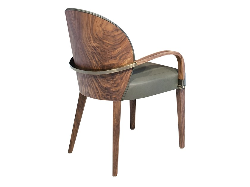 Upholstered leather chair RITA by Mobi