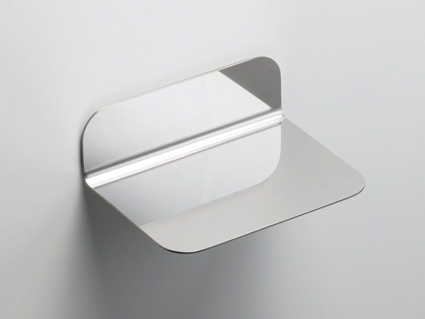 Stainless steel bathroom wall shelf RITMONIO ACCESSORIES | Stainless steel bathroom wall shelf - RUBINETTERIE RITMONIO