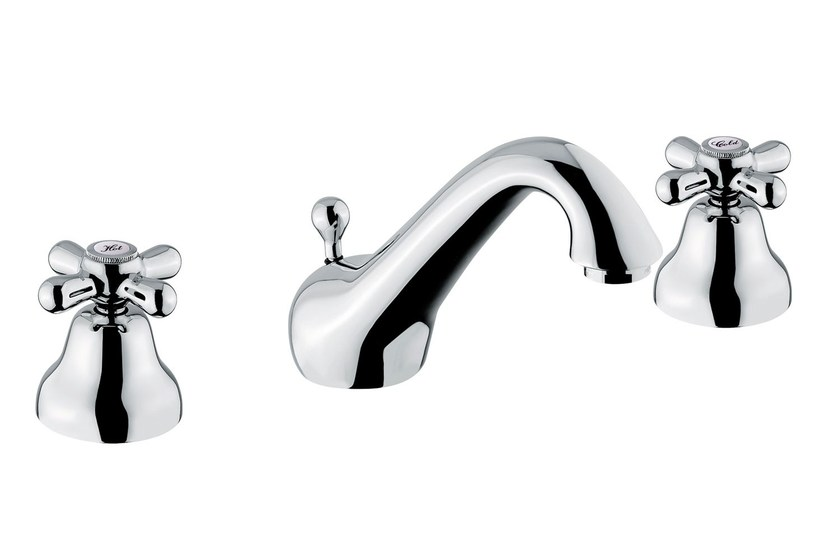 Classic style 3 hole washbasin mixer RITRÒ | 3 hole washbasin mixer by RITMONIO