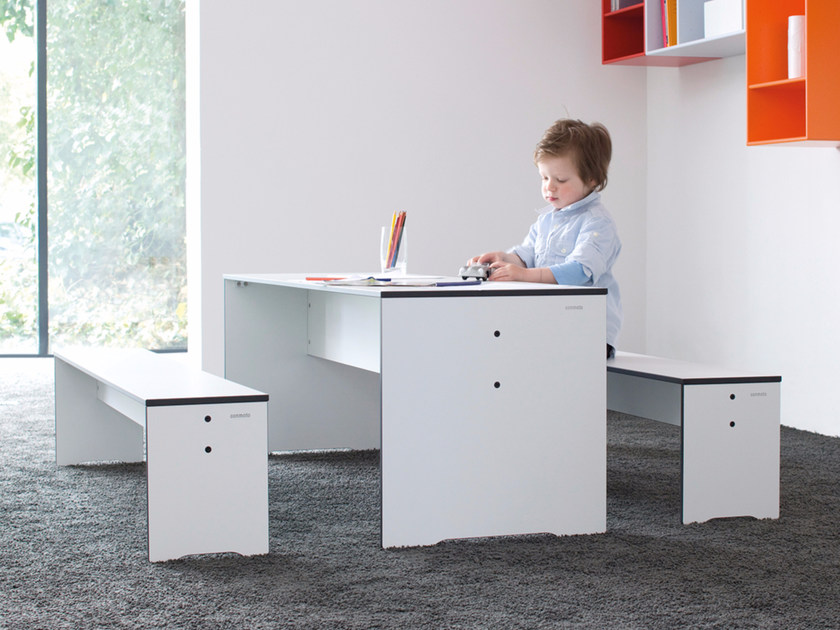 Rectangular HPL kids table RIVA | Kids table - conmoto by Lions at Work