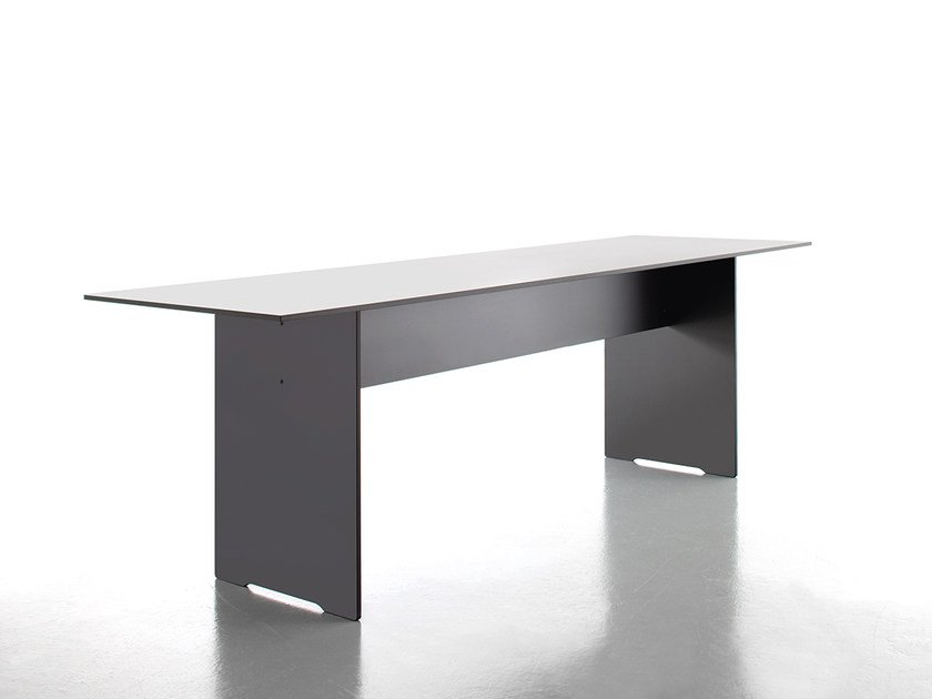 Rectangular HPL dining table RIVA VARIO - conmoto by Lions at Work