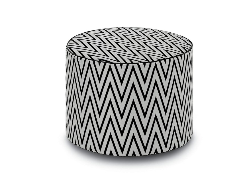 Fabric pouf with removable lining RIVAS | Pouf - MissoniHome