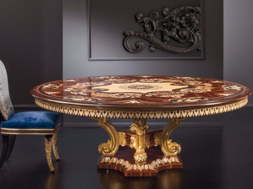 Round wooden living room table RM164 | Table - Rozzoni Mobili d'Arte