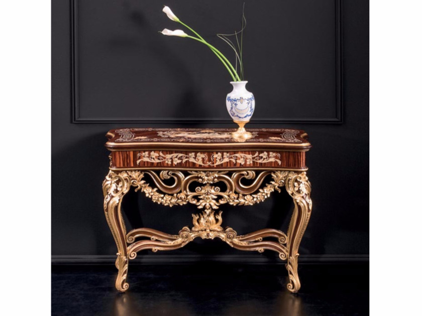 Rectangular wooden console table RM166   Console table by Rozzoni