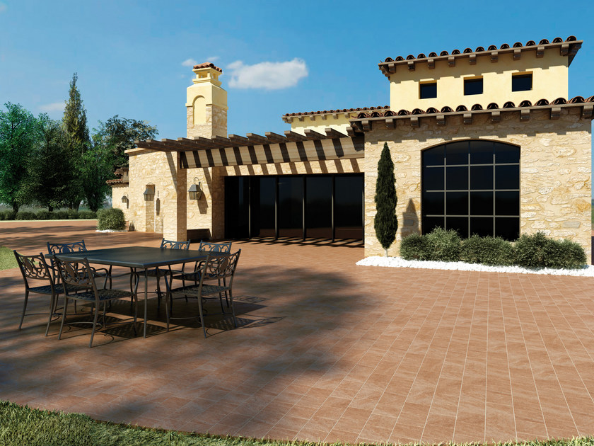 Full-body porcelain stoneware outdoor floor tiles with stone effect ROCCE - Ceramiche Marca Corona