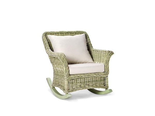 Rocking garden armchair with armrests CHATHAM | Rocking garden armchair - 7OCEANS DESIGNS