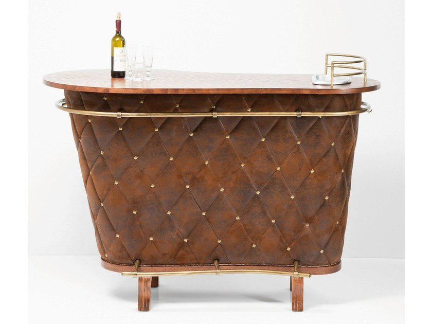 Mobile bar in acciaio e legno rockstar vintage mobile for Mobili kare design