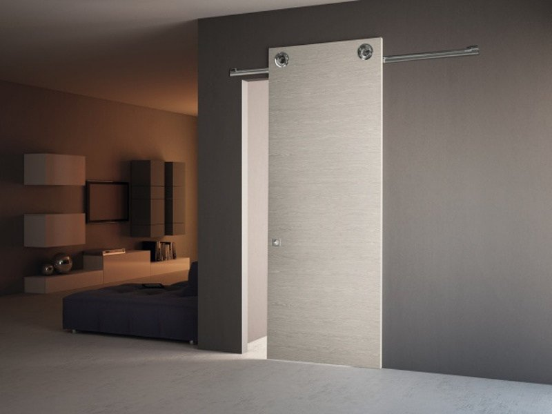 Oak sliding door without frame ROLLER by PIVATO