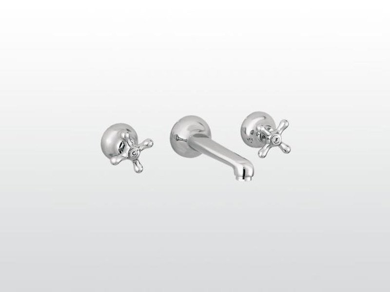 3 hole wall-mounted washbasin tap ROMA | 3229 by RUBINETTERIE STELLA