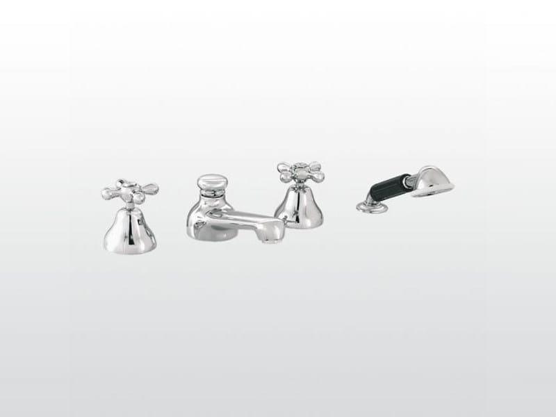 4 hole chrome-plated bathtub tap ROMA | 3256/308 - RUBINETTERIE STELLA
